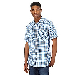 Lee - Blue western checked shirt