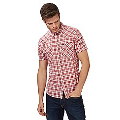 Lee - Red checked slim fit western shirt