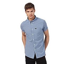 Lee - Blue mini checked shirt