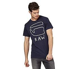 G-Star Raw - Navy logo print t-shirt