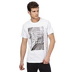 G-Star Raw - White graphic logo print t-shirt