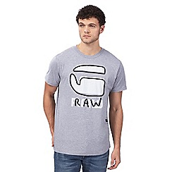 G-Star - Grey textured logo t-shirt