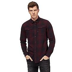G-Star - Dark red checked shirt