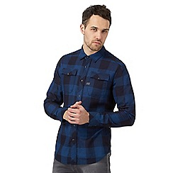 G-Star - Blue checked print shirt