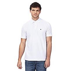 G-Star Raw - White logo emboridered polo shirt