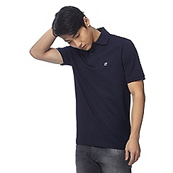 G-Star Raw - Navy logo embroidered polo shirt