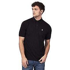 G-Star - Black logo embroidered polo shirt