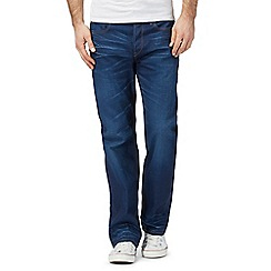 G-Star Raw - Blue mid wash whiskered '3301' loose jeans