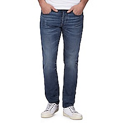 G-Star - Blue mid wash slim fit jeans