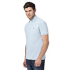 G-Star - Light blue logo applique polo shirt