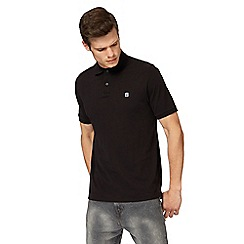G-Star - Black logo print polo shirt