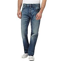 G-Star - Blue vintage wash '3301' straight leg jeans