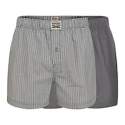 Levi's - Pack of two black striped woven boxers