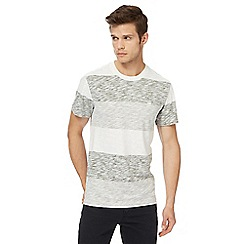 G-Star - Grey striped print t-shirt