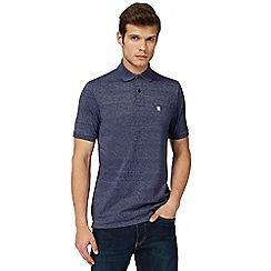 G-Star - Navy logo print polo shirt