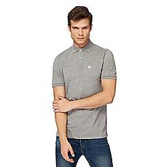 G-Star - Grey logo print polo shirt