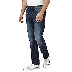 G-Star - Blue mid wash '3301' tapered jeans
