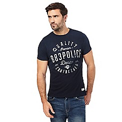 883 Police - Navy graphic logo t-shirt