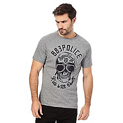 883 Police - Grey graphic logo t-shirt