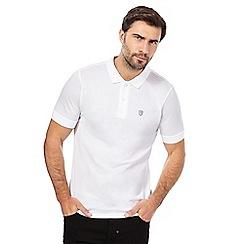 883 Police - White logo detail polo shirt