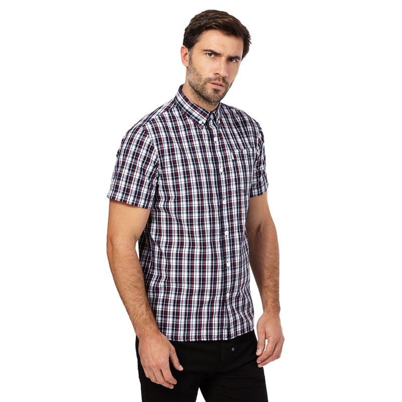 883 Police - Multi-Coloured Short-Sleeved Check Print Shirt