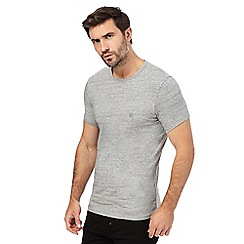 883 Police - Grey crew neck t-shirt
