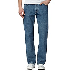 Lee - Big and tall Brooklyn stonewash regular fit light blue jeans
