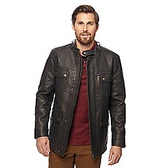Racing Green - Brown five pocket biker jacket