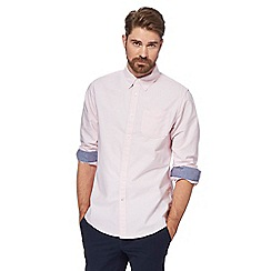 Racing Green - Big and tall pale pink long-sleeved oxford shirt