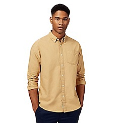 Racing Green - Light tan Oxford shirt