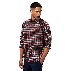 Racing Green - Big and tall red and green tartan check long sleeve shirt