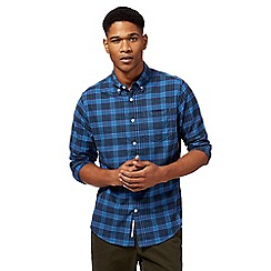 Racing Green - Big and tall blue checked shirt