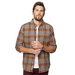Racing Green - Big and tall multi-coloured checked shirt