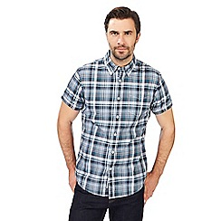 Racing Green - Big and tall green checked short-sleeved shirt