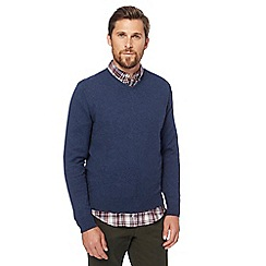 Racing Green - Blue V-neck jumper