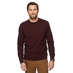 Racing Green - Big and tall dark red textured sweater