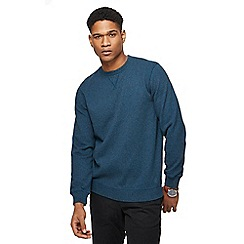 Racing Green - Big and tall blue grindle crew neck sweatshirt