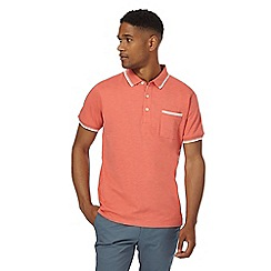 Racing Green - Big and tall orange tipped polo shirt