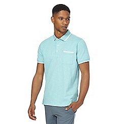 Racing Green - Turquoise tipped polo shirt