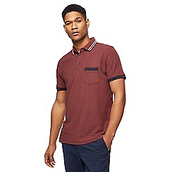 Racing Green - Big and tall dark red tipped polo shirt