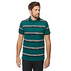Racing Green - Big and tall green sporty stripe polo shirt