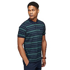 Racing Green - Big and tall dark green stripe polo shirt