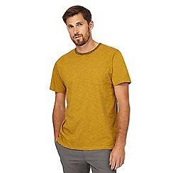 Racing Green - Big and tall mustard striped pocket t-shirt