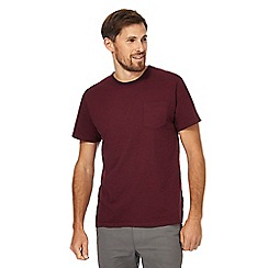 Racing Green - Big and tall wine striped pocket t-shirt