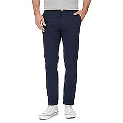 Racing Green - Big and tall navy chino trousers