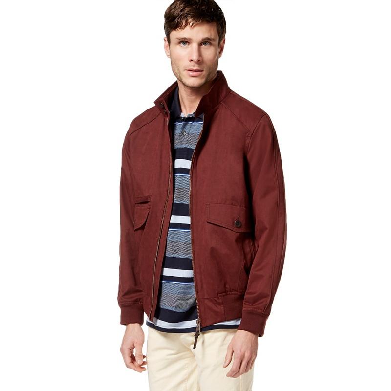 Big & Tall Racing Green Red Harrington Jacket, Mens, Size: