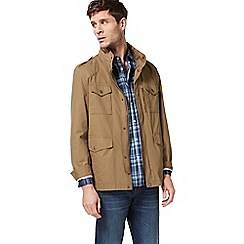 Racing Green - Tan four pocket jacket
