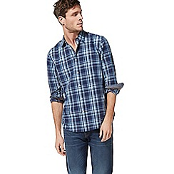 Racing Green - Big and tall navy checked shirt