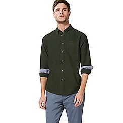 Racing Green - Dark green Oxford tailored fit shirt