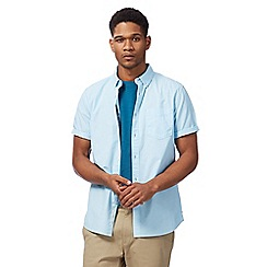 Racing Green - Turquoise button down short sleeve shirt